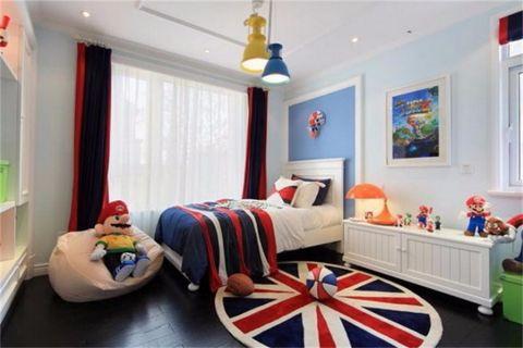 儿童房床新中式风格效果图