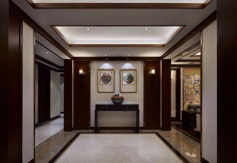 玄关背景墙新中式风格装饰图片