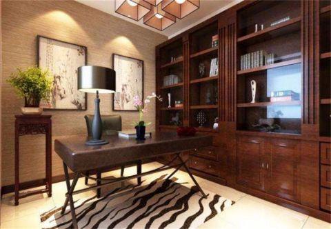 书房书桌新中式风格装饰效果图