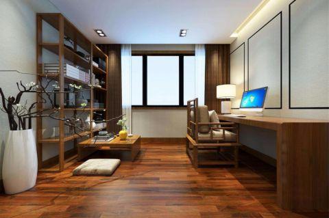 雍福上城106平新中式风格三居室装修效果图