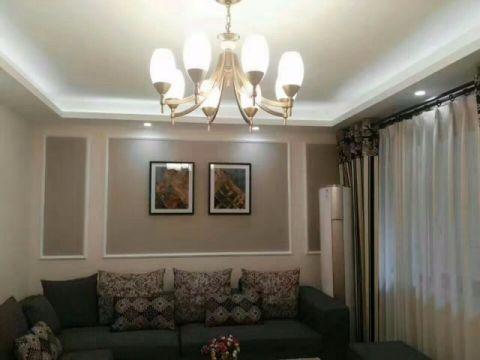 客厅窗帘新古典风格装饰效果图