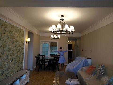 客厅门厅美式风格装修图片