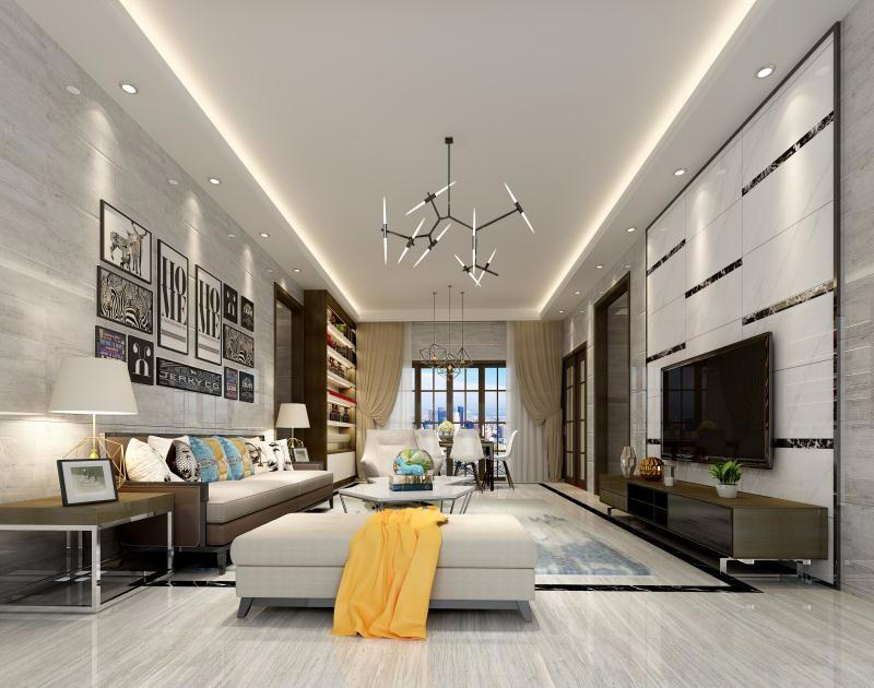 3室2卫2厅100平米现代风格