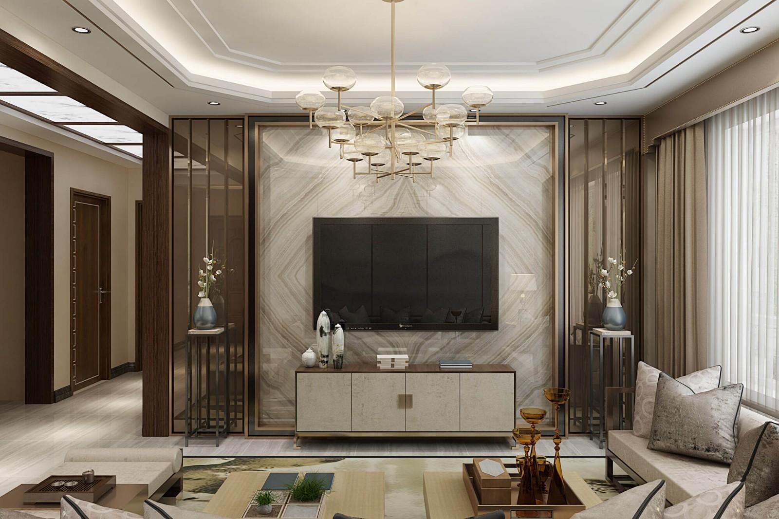 3室1卫2厅109平米新中式风格