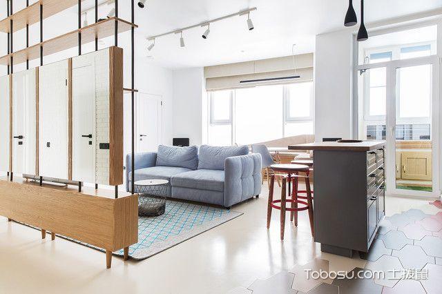 客厅白色隔断现代风格装饰效果图
