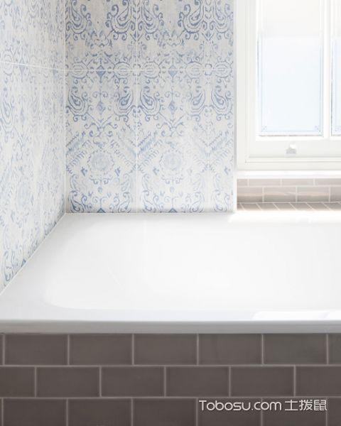卫生间白色吧台美式风格装修图片