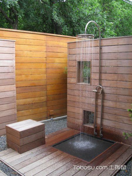 完美舒适现代风格室外花园泳池装修效果图