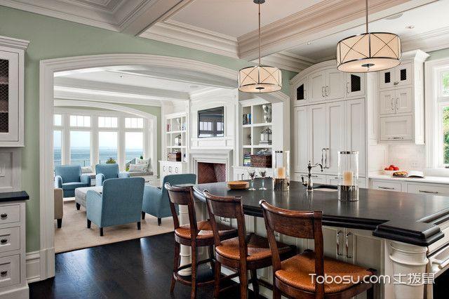 厨房白色隔断简欧风格装修图片