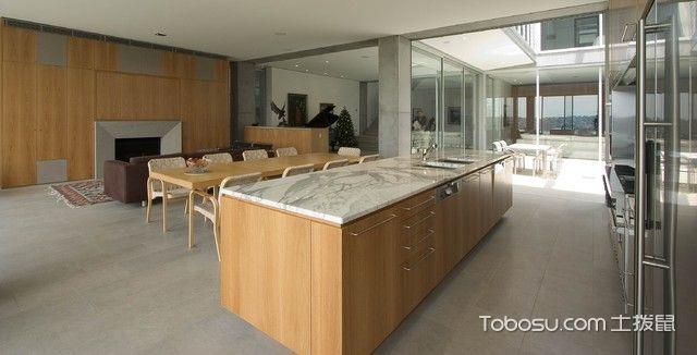 厨房黄色橱柜现代风格装修设计图片