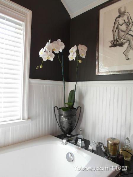 卫生间白色吊顶混搭风格装潢图片