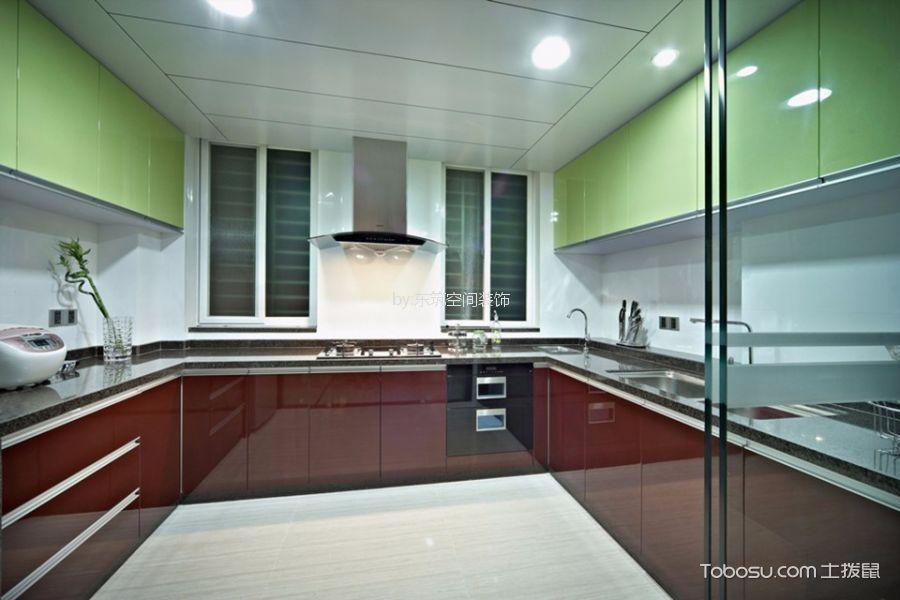 厨房 橱柜_江阴国际花园308平米现代风格别墅装修效果图