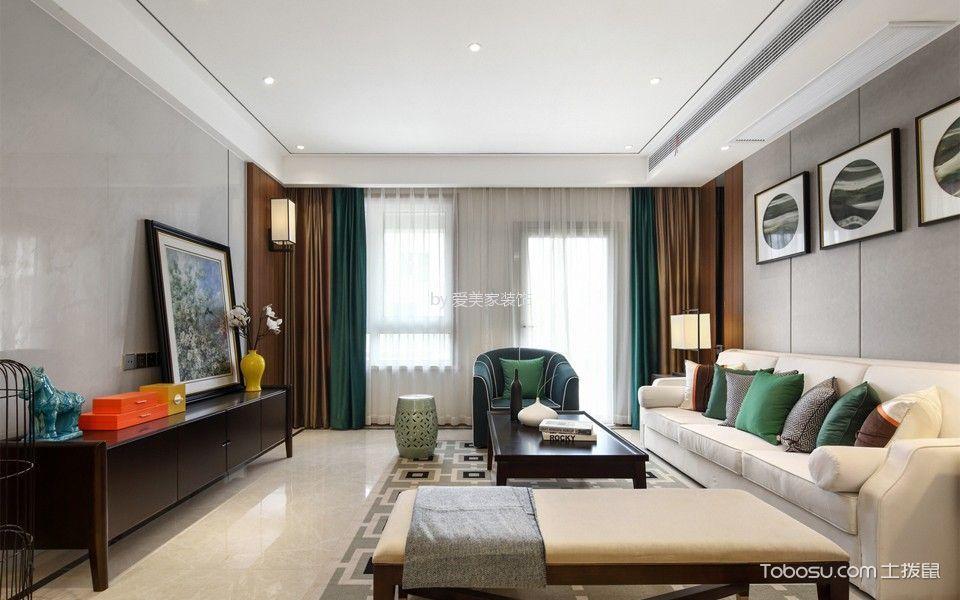 140平简约中式风格三居室装修效果图