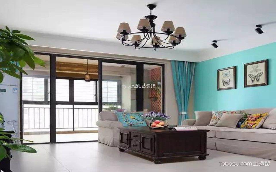 海东新城120平米美式风格3居室装修效果图