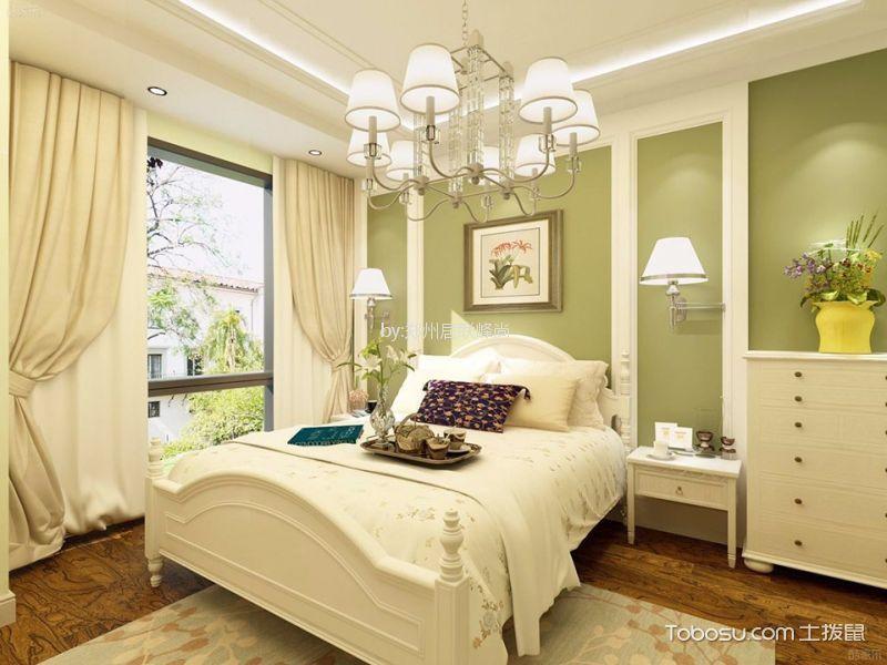 卧室白色吊顶田园风格效果图