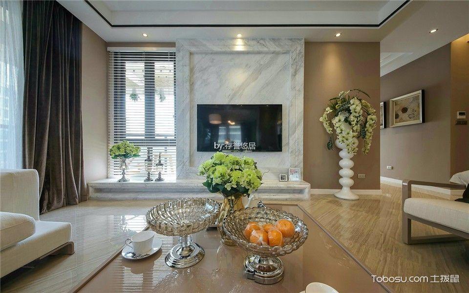 现代简约风格170平米三室两厅新房装修效果图