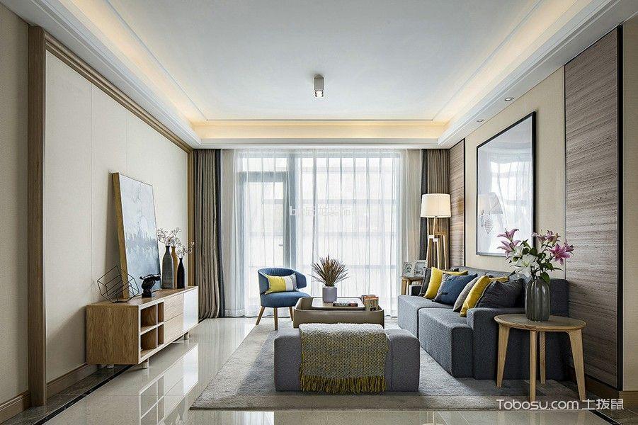 瑞景华庭130平现代三居室风格效果图
