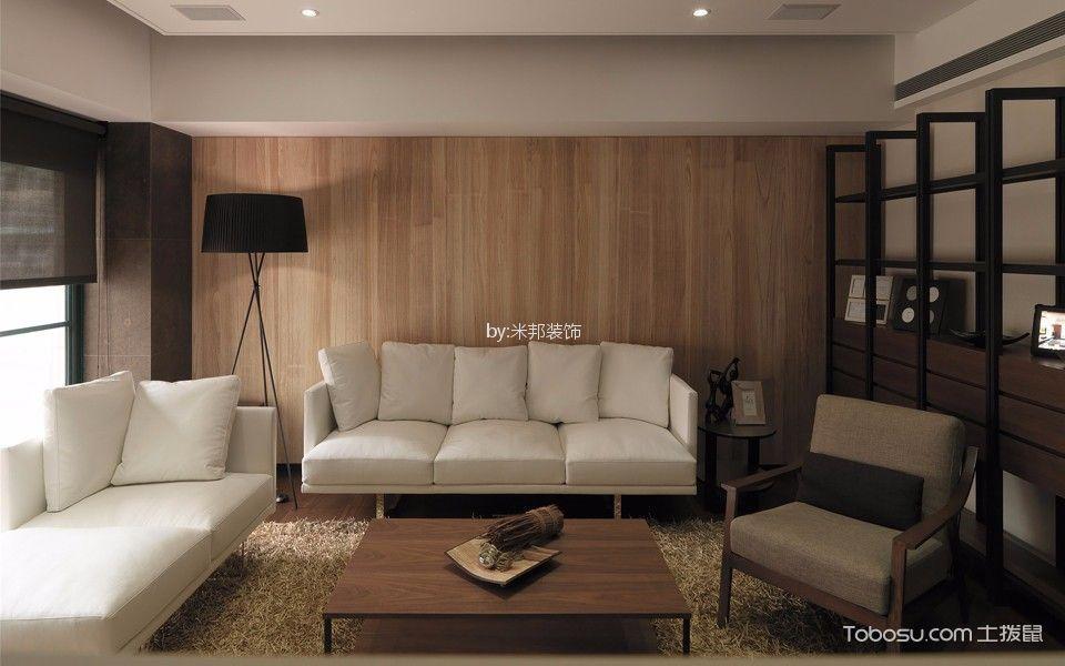 星河国际115平简约风格三居室装修效果图
