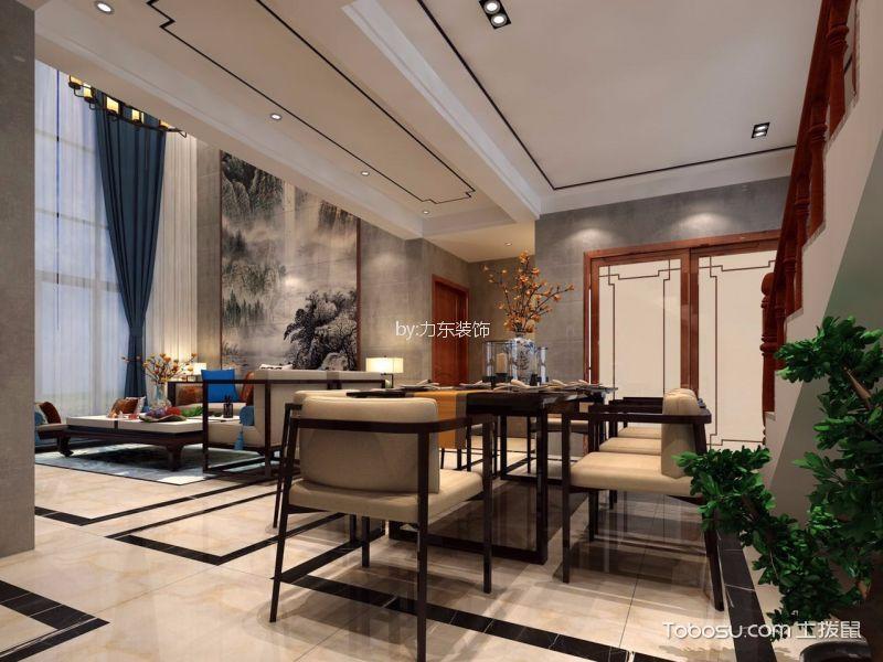 颐龙湾180平方新中式风格别墅装修效果图