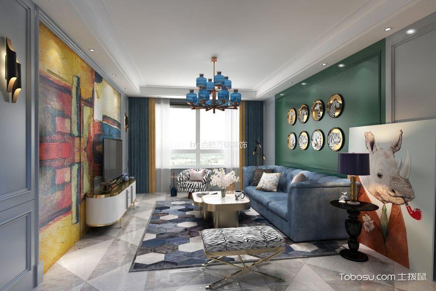 和安家园86㎡混搭风格二居室装修效果图