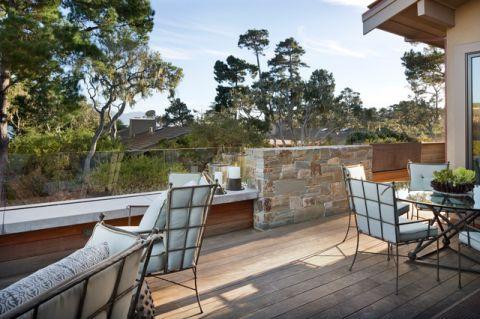 阳台白色细节美式风格效果图