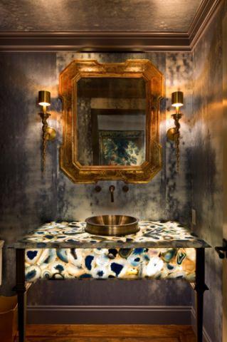 客厅灰色细节美式风格装饰效果图
