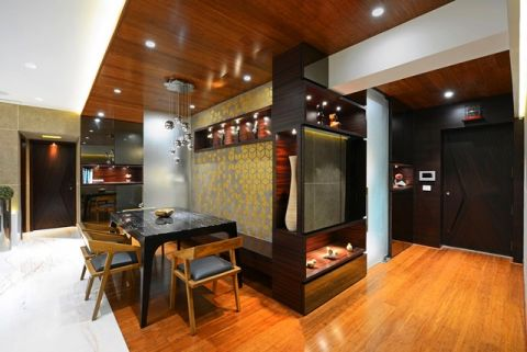 餐厅厨房岛台混搭风格装饰效果图