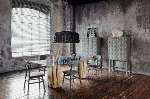 餐厅窗帘混搭风格装饰图片