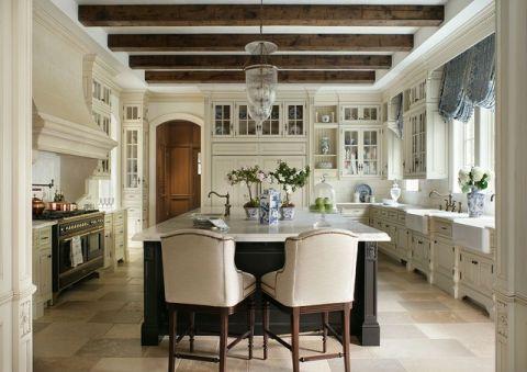 优雅时尚美式风格厨房装修效果图_土拨鼠2017装修图片大全