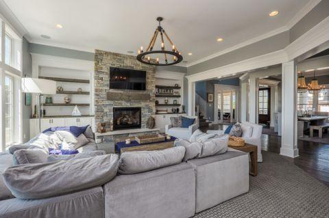 客厅细节美式风格装修设计图片
