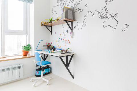 儿童房白色细节现代风格装潢效果图