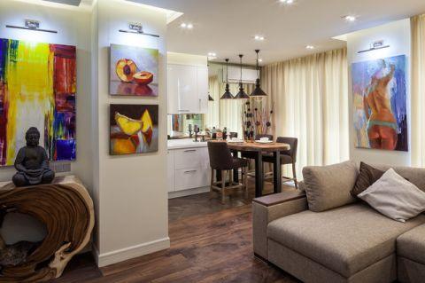 客厅彩色细节现代风格装饰图片