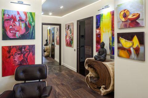 玄关彩色走廊现代风格装潢设计图片