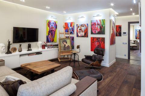 客厅彩色细节现代风格效果图