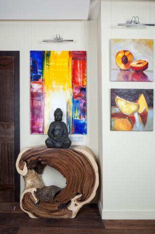 客厅彩色背景墙现代风格装修效果图