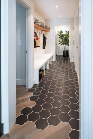 咖啡色走廊现代风格装潢效果图