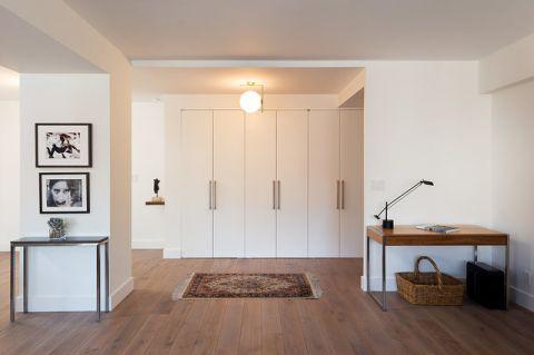 客厅白色隐形门现代风格效果图