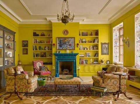 客厅博古架简欧风格装饰效果图