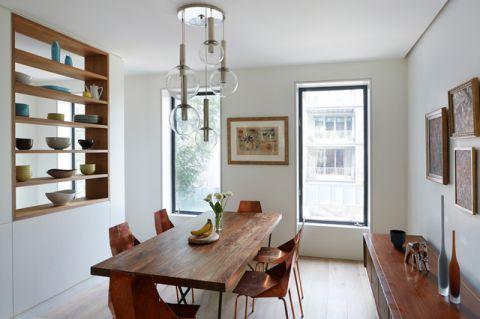 餐厅博古架现代风格装潢设计图片