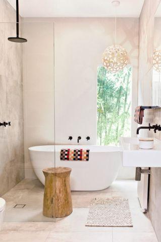 个性休闲现代风格浴室装修效果图_土拨鼠2017装修图片大全