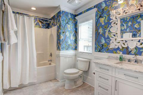 清新自然美式风格浴室装修效果图_土拨鼠2017装修图片大全
