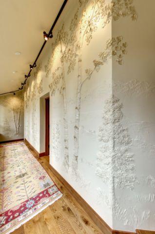玄关走廊美式风格装潢图片