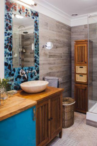 完美舒适混搭风格浴室装修效果图_土拨鼠2017装修图片大全