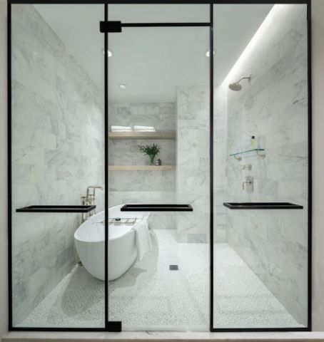 卫生间推拉门现代风格装修图片