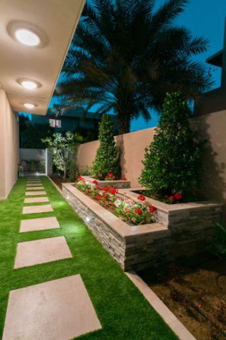 干净舒适现代风格花园装修效果图_土拨鼠2017装修图片大全
