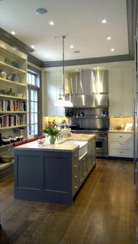 厨房吧台简欧风格效果图
