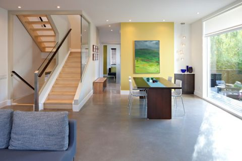 餐厅楼梯现代风格装潢图片