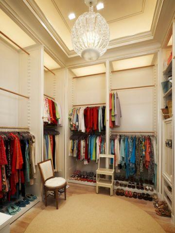 衣帽间橱柜美式风格装修图片