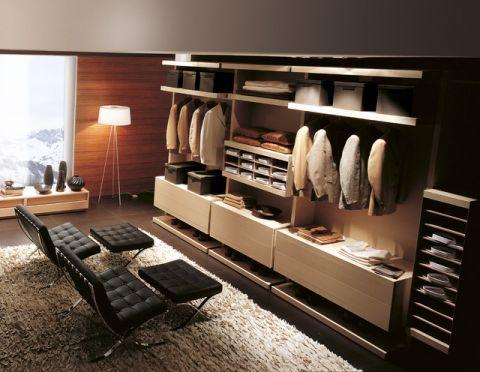 衣帽间橱柜现代风格装修设计图片