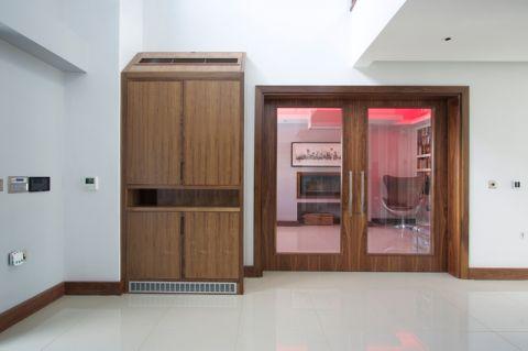 客厅推拉门现代风格装潢设计图片