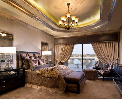 卧室吊顶简欧风格装潢设计图片